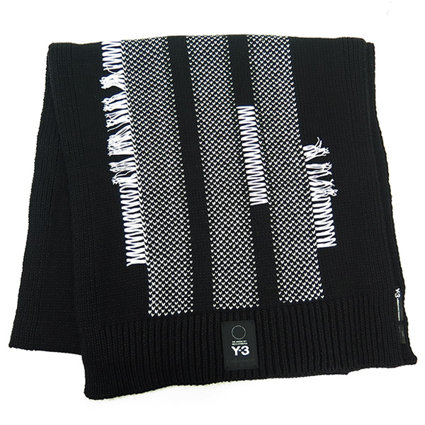 KNIT SCARF/BLACK