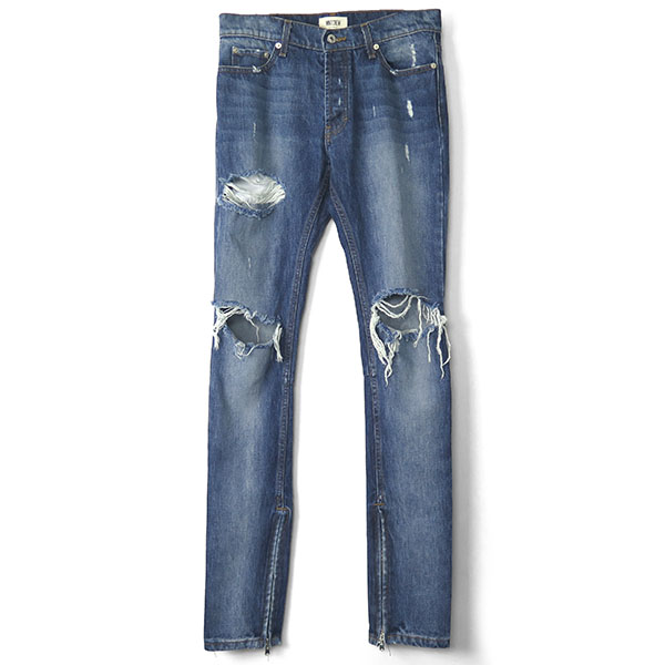ROCKSTAR SKINNY DENIM PANTS/D.WASH