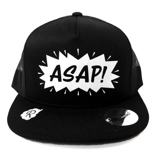 Mesh Cap -ASAP-/black×white