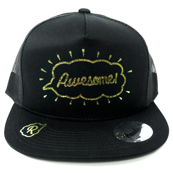 Mesh Cap -Awesome-/black×gold