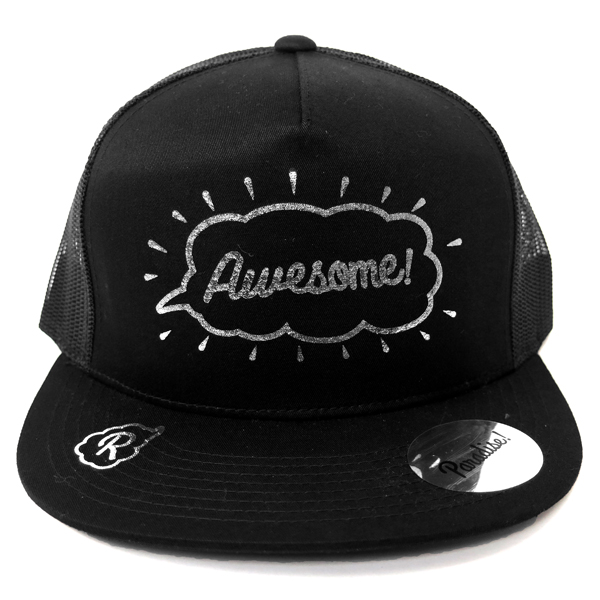 Mesh Cap -Awesome-/black×silver