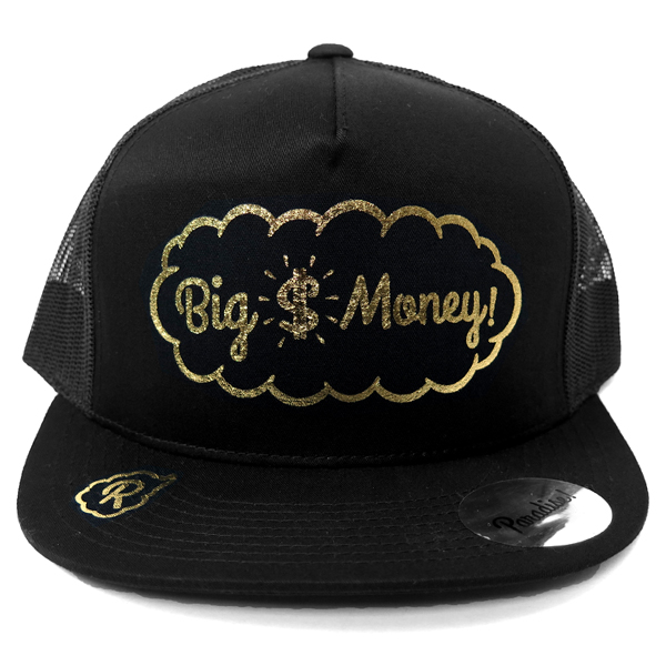 Mesh Cap -Big Money-/black×gold