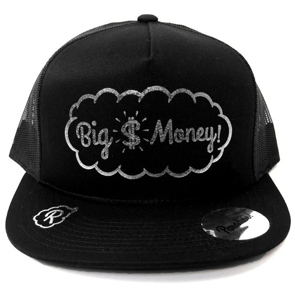 Mesh Cap -Big Money-/black×silver
