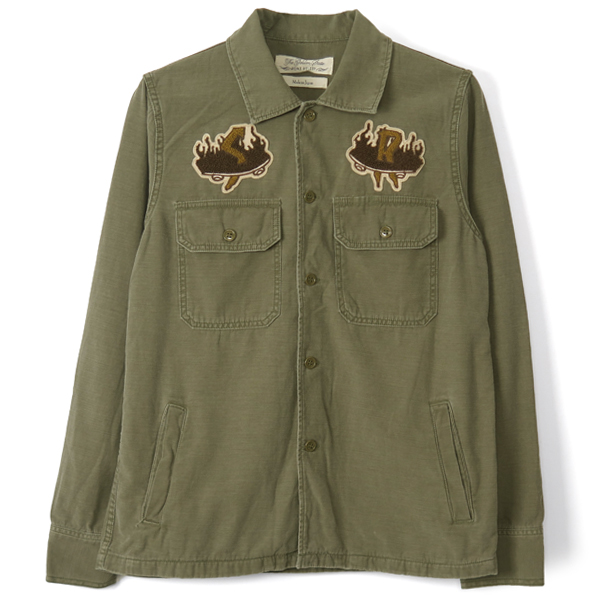 MILITARY SKATE PATCH SHIRT/KHAKI