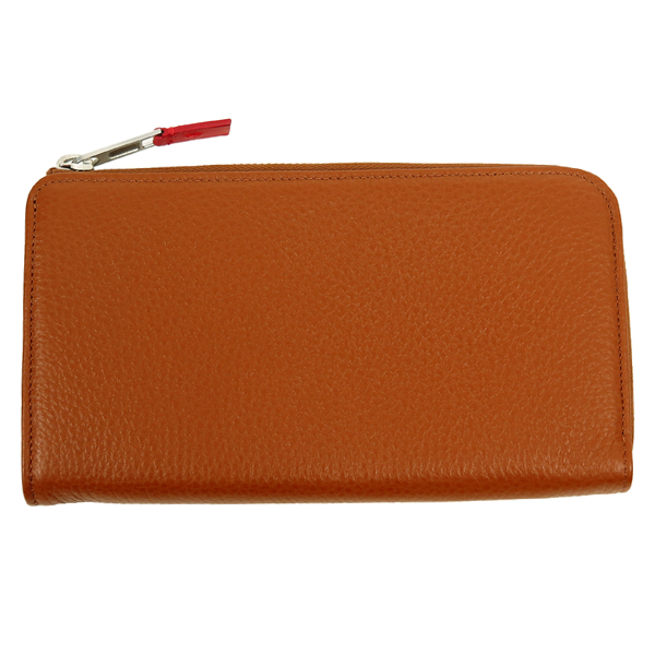 ZIP LONG WALLET/BROWN