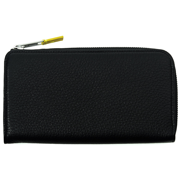 ROUND ZIPPER LONG WALLET/BLACK