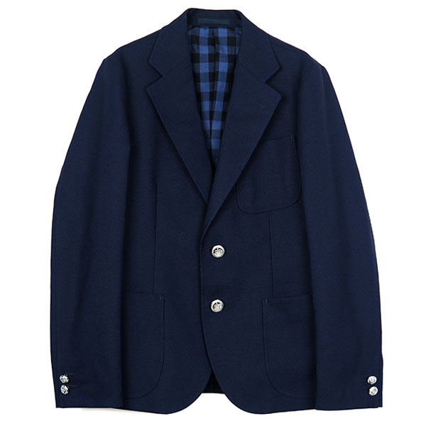 NEW HOPSACK JACKET/NAVY(STRETCH FABRIC)(TSJJ-84402-01)