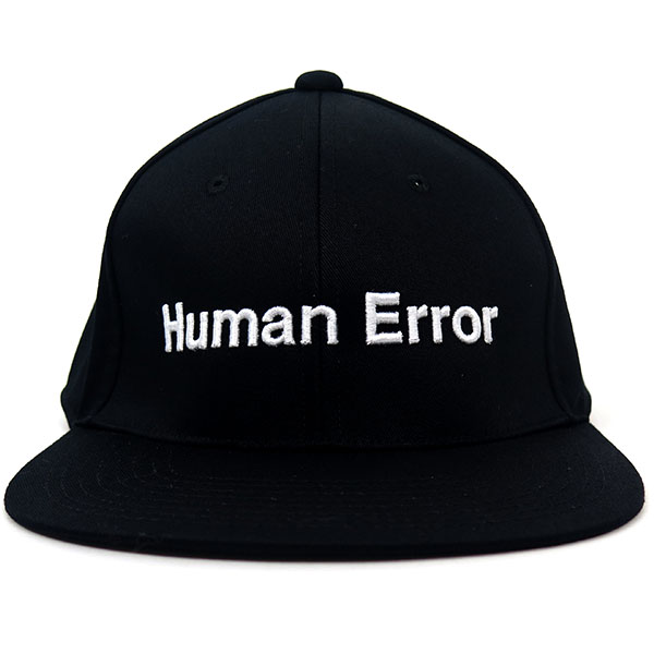 コットンBBCAP Human Error/BLACK