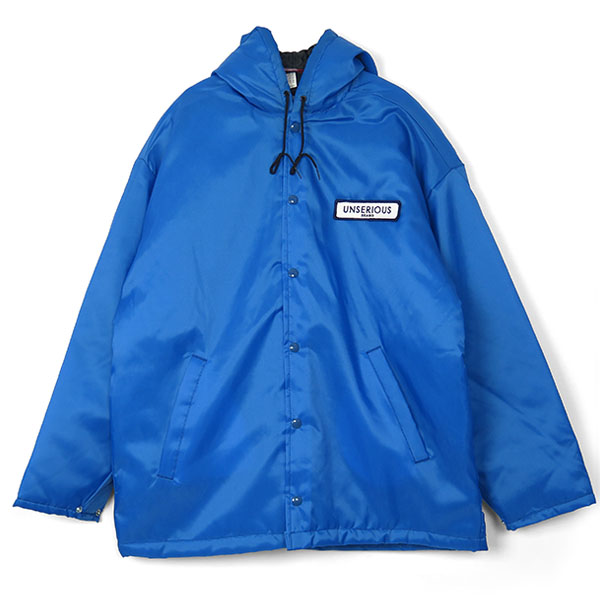UNSERIOUS Hood Coach Jacket/BLUE