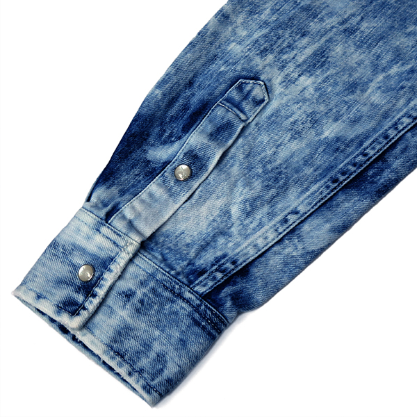 ECO BLEACH DENIM SHIRT/BLUE(18FGS-05)
