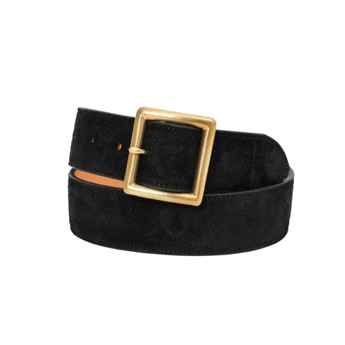 PLAIN BELT 40MM (VEG SUEDE)/BLACK