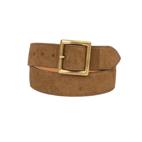 【ポイント10倍】PLAIN BELT 40MM (VEG SUEDE)/CAMEL