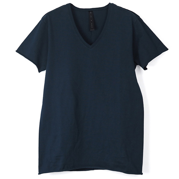 cut-off V-neck C-S S-S Tシャツ/NAVY