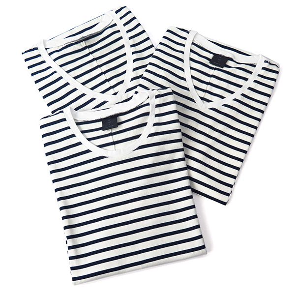3in border pack-T/WHITE×NAVY