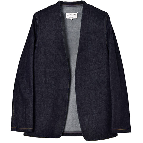 NO COLLAR JACKET/INDIGO