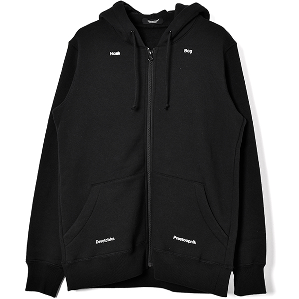 ACO ZIP UP HOODIE /BLACK