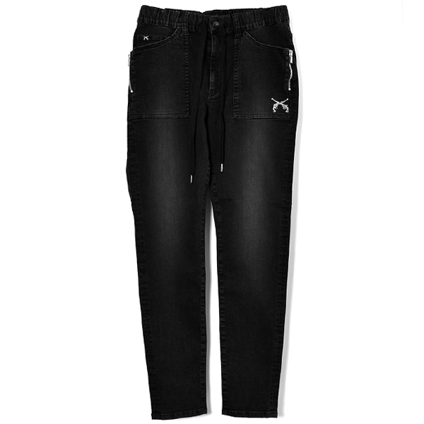 TEP.W.DENIM PANTS SW/BLACK