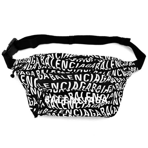 LOGO WEAVE WHEEL BELTPACK/BLACK/WHITE