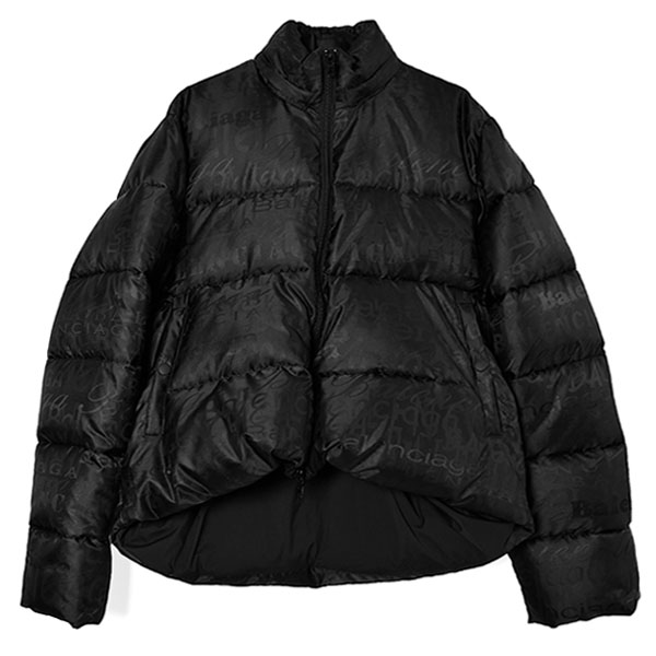 EMBROIDERED LOGOS PUFFER JACKET/BLACK