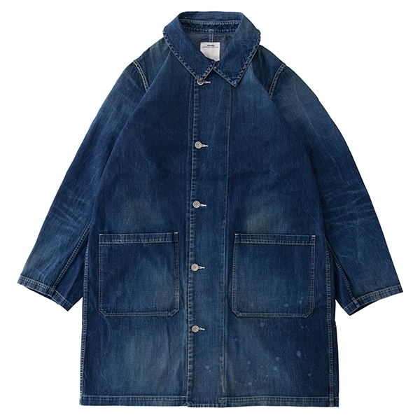GREASE MONKEY COAT DRY DENIM