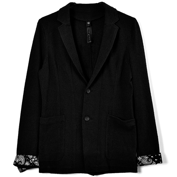 boucle summer jacket/BLACK