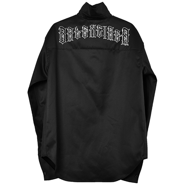 PULLED L/S SHIRT/BLACK