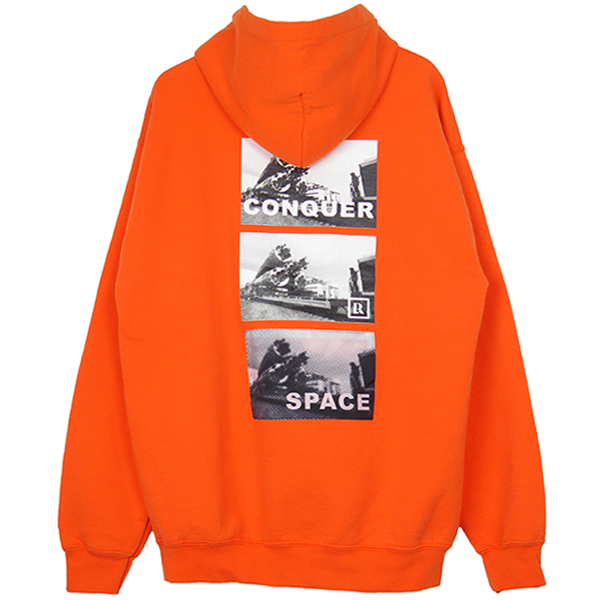 SPACE ROCKET PULLOVER HOODIE/ORANGE