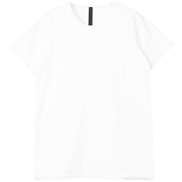 2-ply cut-off crew-neck S/S tee/WHITE