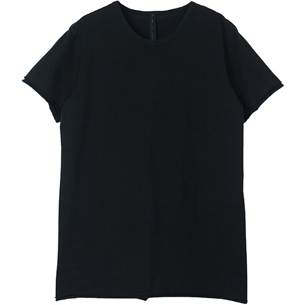 2-ply cut-off crew-neck S/S tee/BLACK