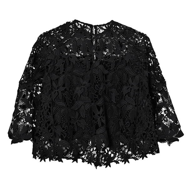 Flower Lace Blouse/ブラック