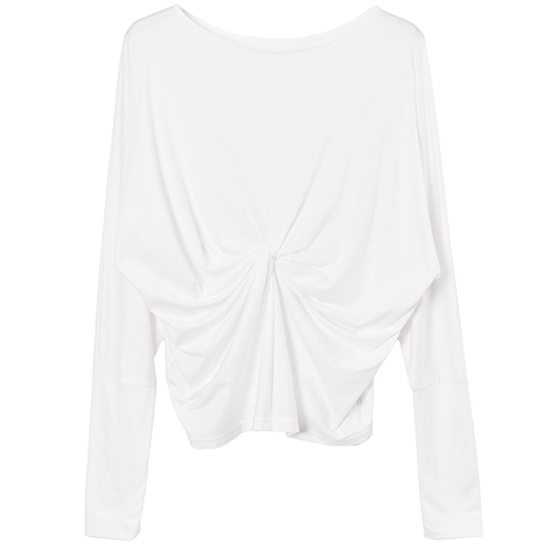 Dolman Sleeve Twist Tops/ホワイト