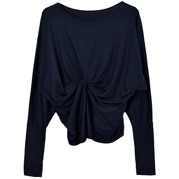 Dolman Sleeve Twist Tops/ネイビー