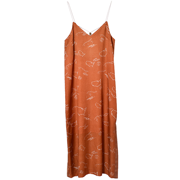 Journey Print Camisole Dress/オレンジ