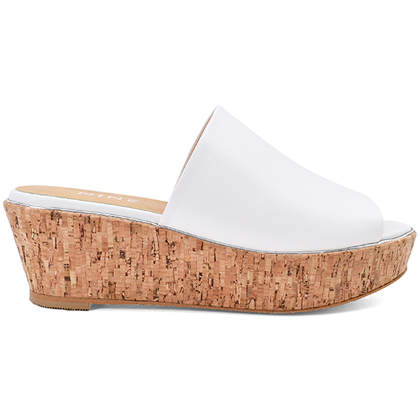 Cork Wedge Sandal/ホワイト