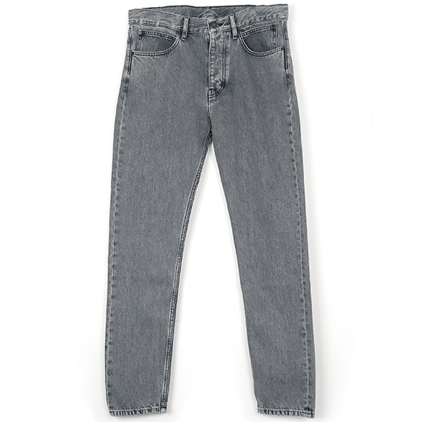 NARROW WASHED JEANS/GRAY