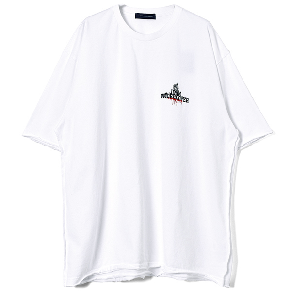 DEATHJOHN BIG TEE/WHITE
