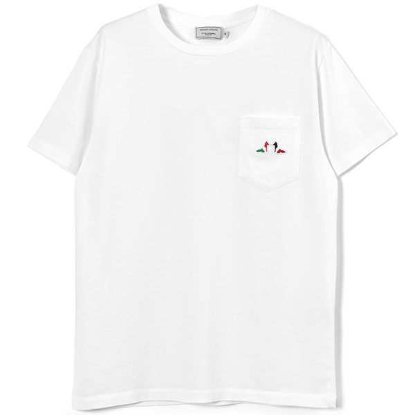 TEE-SHIRT RESTING FOX PATCH/WHITE