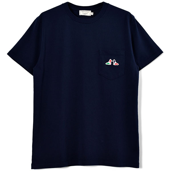 TEE-SHIRT RESTING FOX PATCH/NAVY