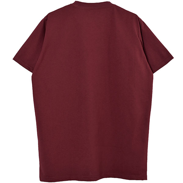 FAKE POCKET TEE/BURGUNDY