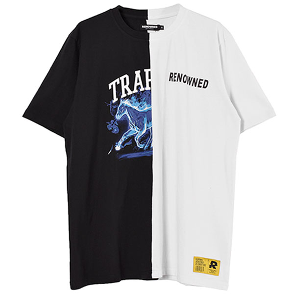 SPRIT HORSE TEE/BLACK/WHITE