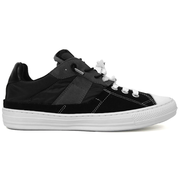 SPLICED LOW-TOP SNEAKERS/BLACK