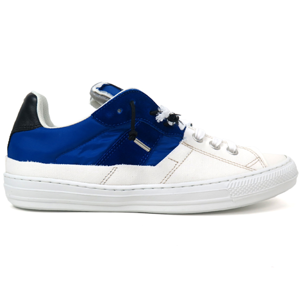 SPLICED LOW-TOP SNEAKERS/WHITE