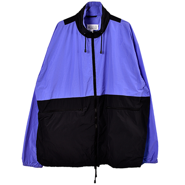 RIPSTOP HOODED BLOUSON/BLACK×VIOLET