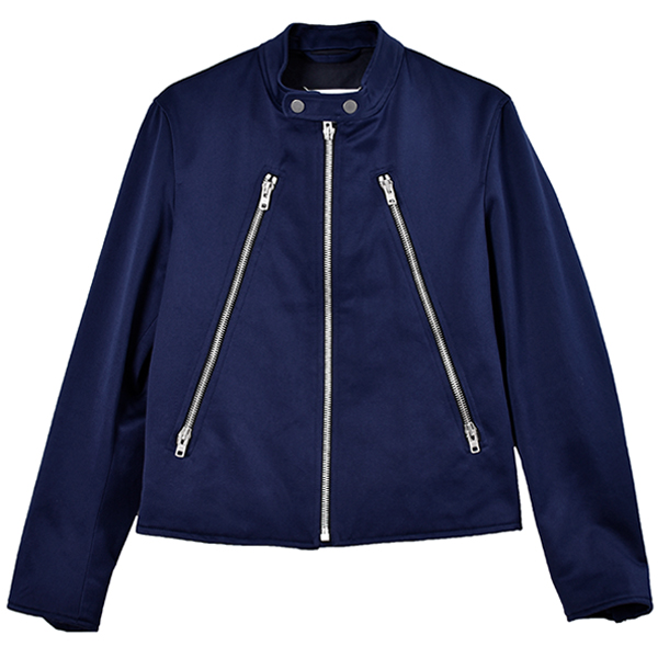 COTTON RIDERS JACKET/NAVY