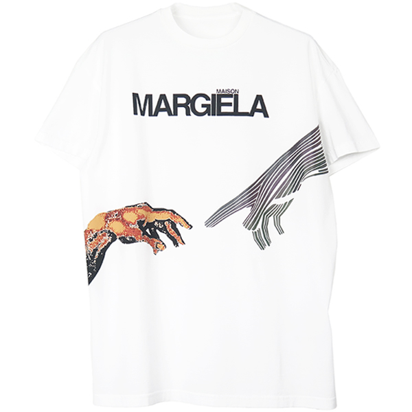 GRAPHIC LOGO PRINT T-SHIRT/WHITE