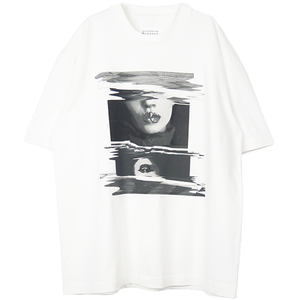 GRAPHIC PRINT T-SHIRT/WHITE