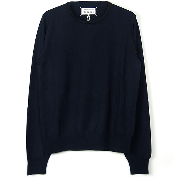 TRIM SWEATER/NAVY