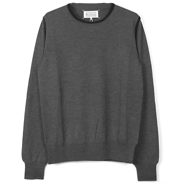 TRIM SWEATER/GRAY