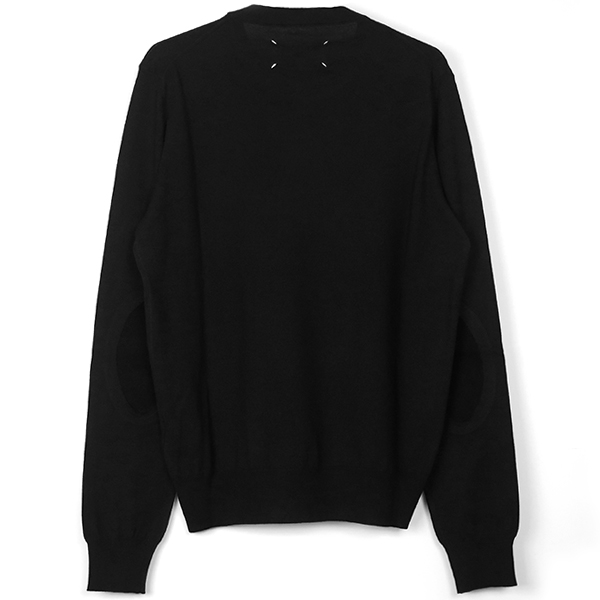 ELBOW PATCH SWEATER/BLACK