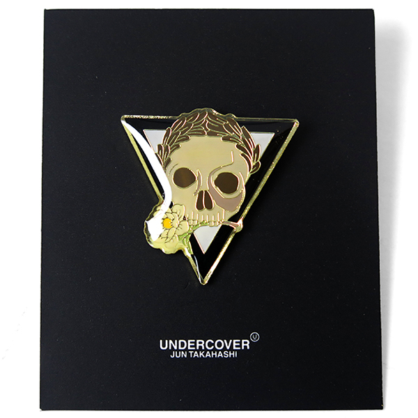PINS SKULLFLOWER/GOLD
